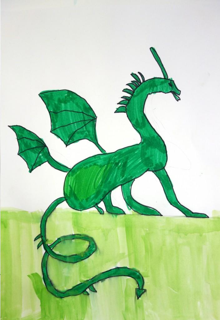 Dragon_cours arts plastiques enfant_Isaac 7 ans