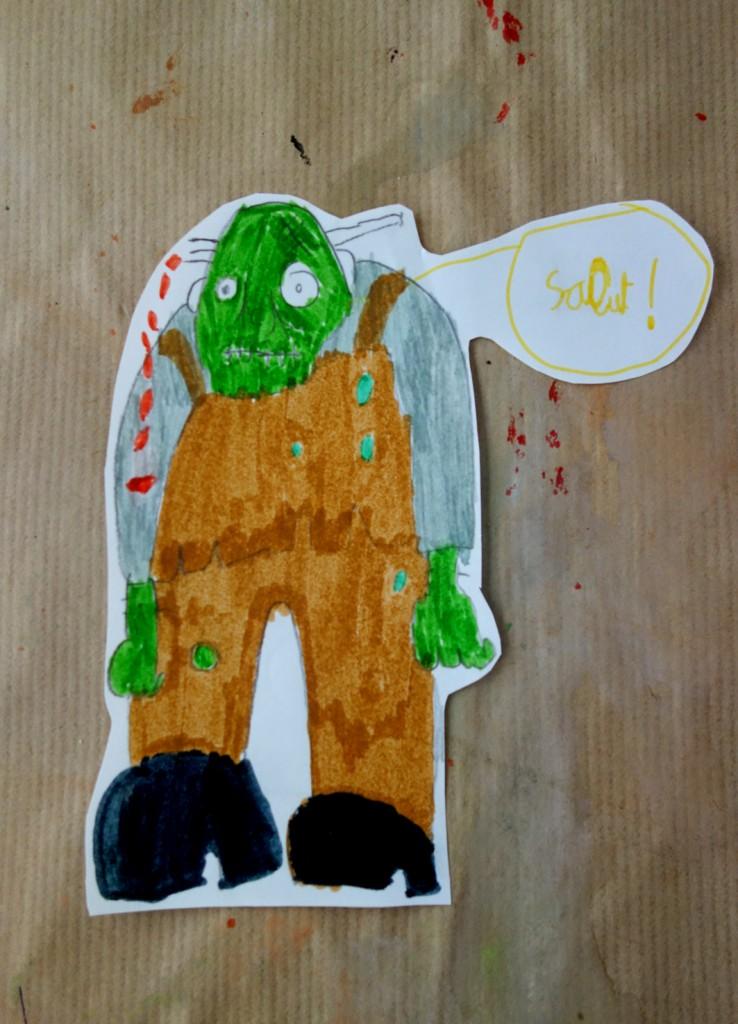 zombie_cours arts plastiques enfant_Ethan 7 ans
