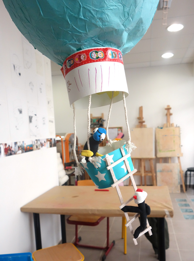 La montgolfière de Gabriel 5 ans.