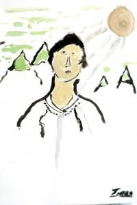cours de dessin enfants-paris11-peinture Timbo 7 ans