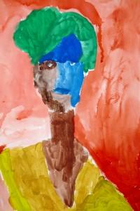 cours de dessin enfants-paris11-portrait Adam 8 ans