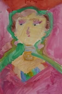 cours de dessin enfants-paris11-portrait Aleegra 7 ans