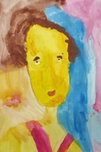 cours de dessin enfants-paris11-portrait Tiffany 5 ans