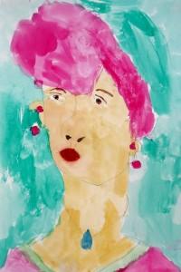 cours de dessin enfants-paris11-portrait peinture Gabriel 5 ans