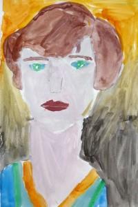 cours de dessin enfants-paris11-portrait peinture mathilde 8 ans