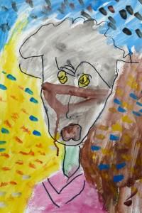 cours peinture enfants-paris11-portrait_Alix 4 ans