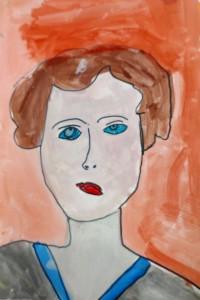 cours peinture enfants-paris11-portrait_margaux 7 ans