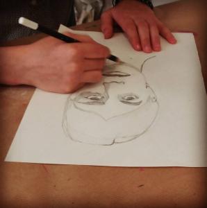 cours stage dessin paques enfants_portrait crayon