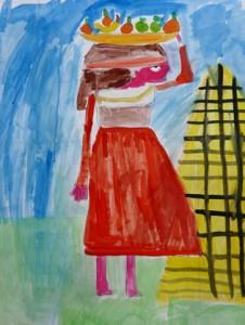 peinture egyptienne_Janis 8 ans