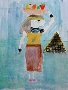 peinture egyptienne_elsa 7 ans
