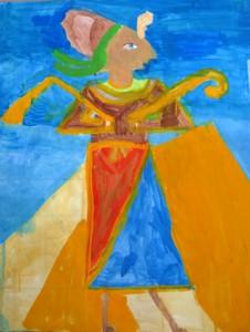peinture egyptienne_lena 8 ans